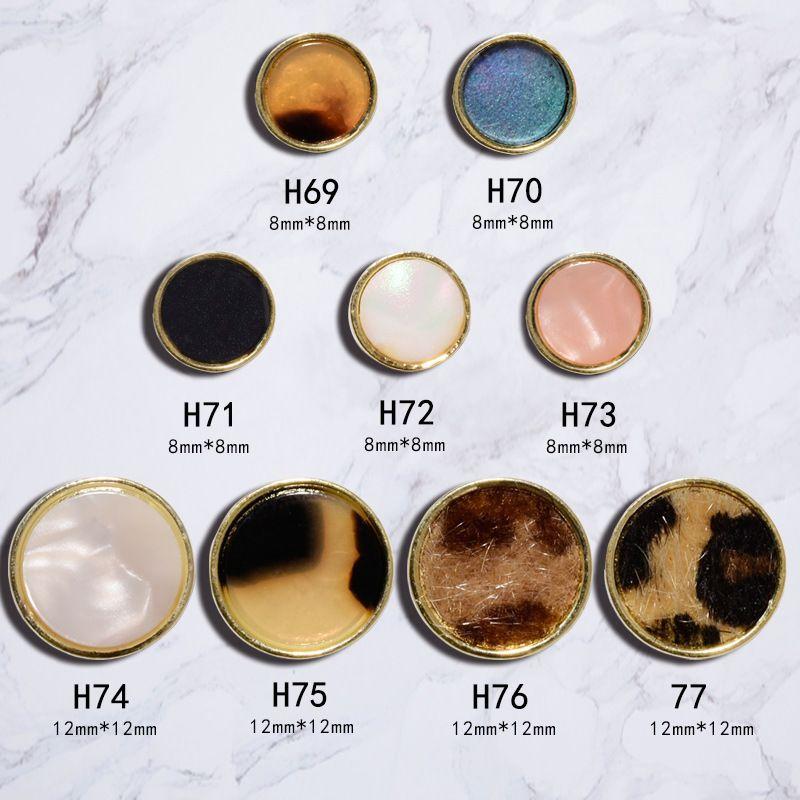 Nail Art Dekorasyon sıcak Jewery Leopard Baskı Düğmeler Amber Shell Eski Okul Retro Tasarım Tırnak Aksesuarlar Botton