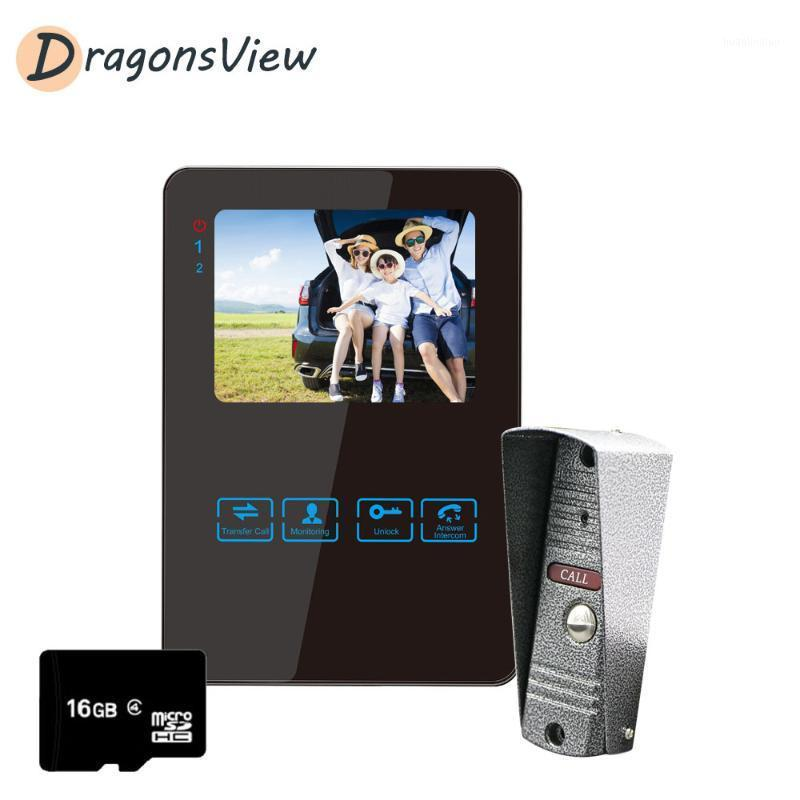 DragonsView Vidéo Soorbell Home Intercom Video Poor Téléphone 4,3 pouces Wired Monitor 1200TVL Outdoor IR Caméra11