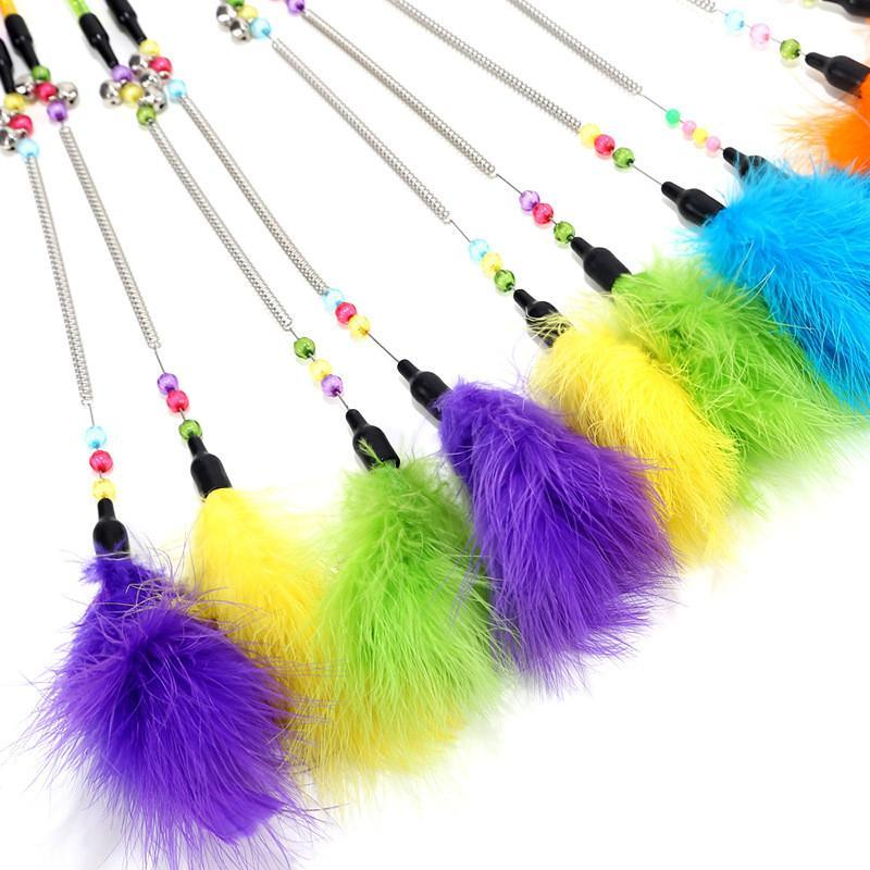 Pet Cat Toy Cat Toys False Mouse Feather Ball Bell Birds Ball Interactive Funny Teaser Wand Toys Training Kitten Stick