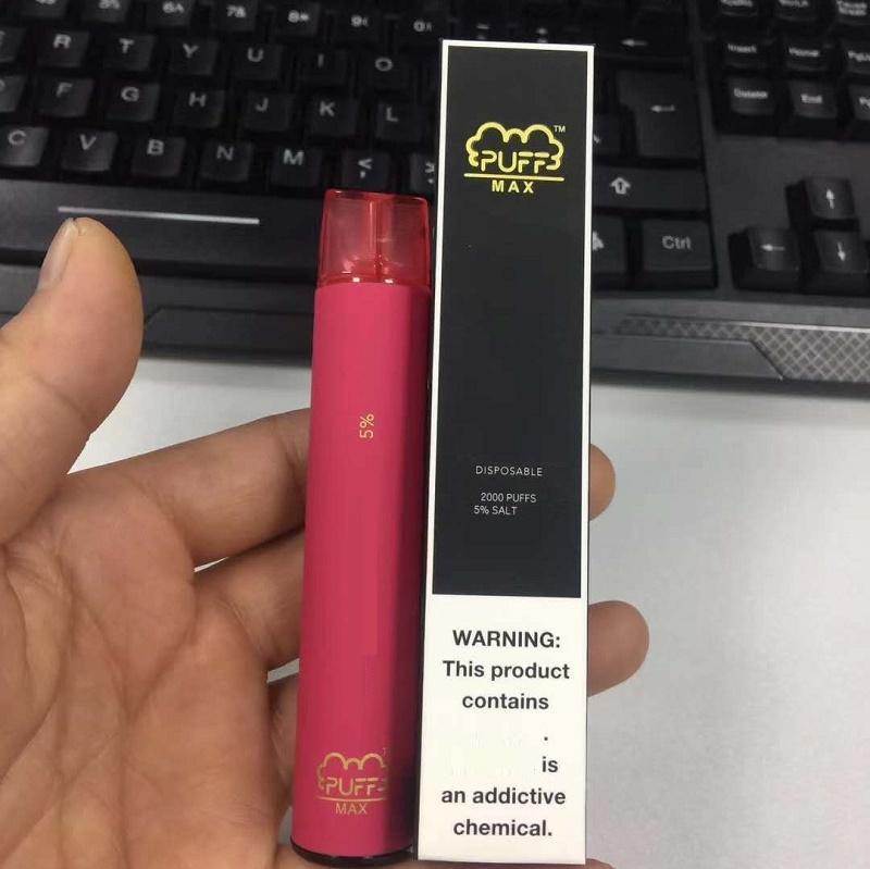 Puff Max 2000 Puffs Disposable Vapes Device E Cigarettes 1200mah Battery 8.5ml Disposable Vape Pen VS Puffbar Puff Plus XXL