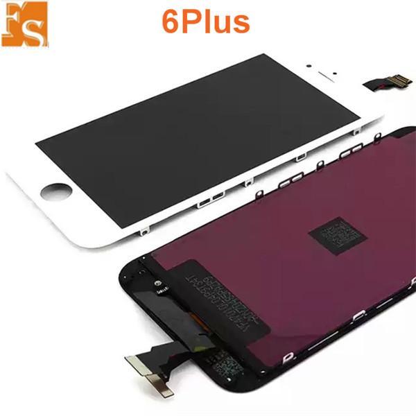 OEM LCD شاشة تعمل باللمس لفون 6 زائد شاشة لمس lcd محول الأرقام كاملة التجمع الأسود lcd استبدال لا ميت بكسل