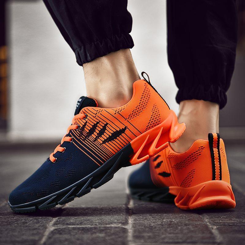 Sıcak Satış Moda Erkekler Ayakkabı Mesh Nefes Sneakers Yürüyüş Erkek Ayakkabı Yeni Rahat Hafif Koşu Ayakkabıları C-200301063