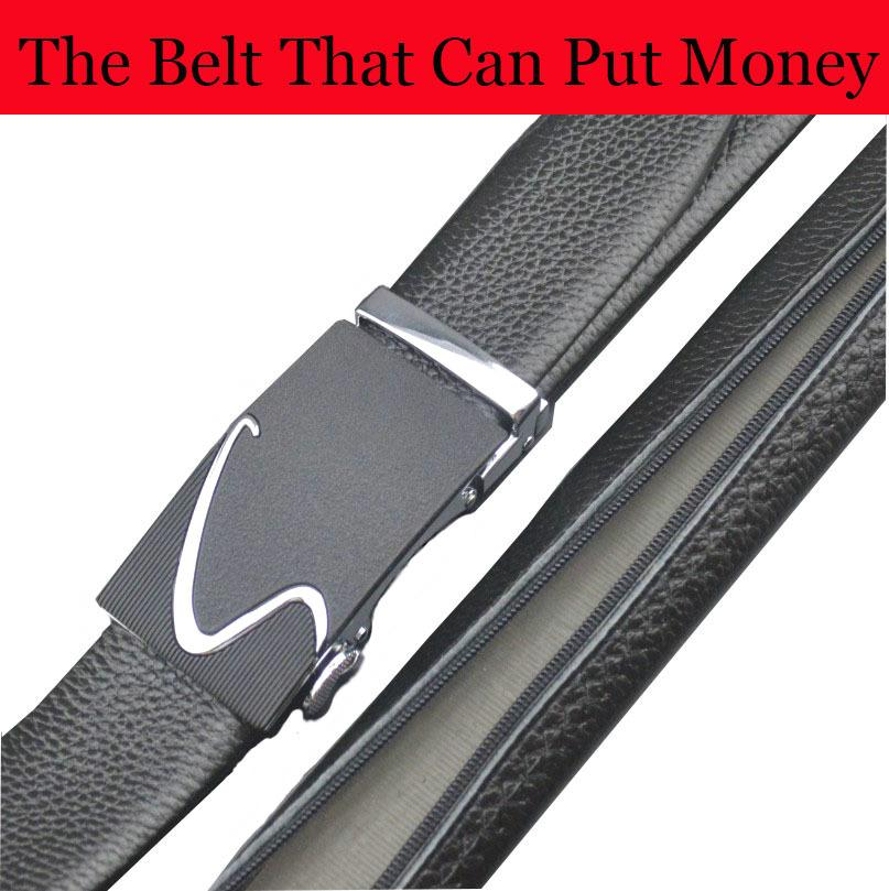Automatic Buckle Belts for Jeans Men's Belt Designer Top Quality The Belt That Can Put Money Genuine Leather Male Belts for Men
