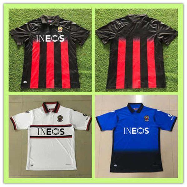 2020 2021 de pied MAILLOT OGC Nice Soccer Jersey 20 21 Atal Dolberg Pierre Lees-Melou Ignace Ganago Wylan Cyprien Football Kits shirt