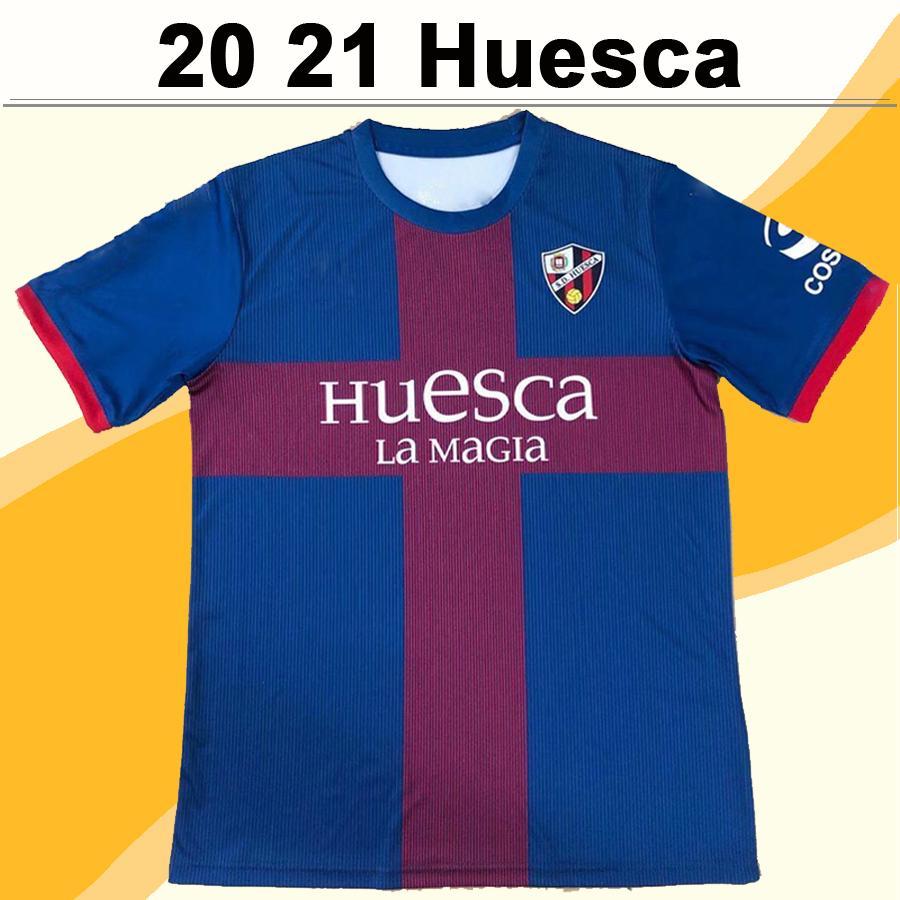 20 21 SD Huesca OKAZAKI CRISTO Mens Soccer Jerseys New SERGIO GOMEZ BABA MALINOVSKYI INSUA Home Football Shirt Short Sleeve Uniforms