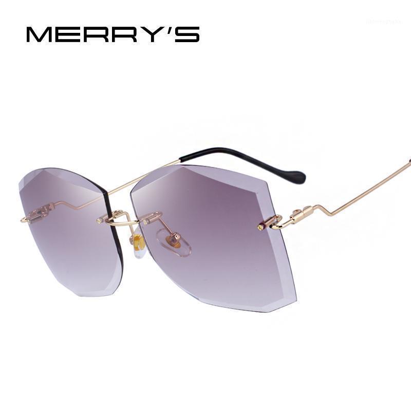 Merrys Design Mulheres Classic Rimless Óculos de Sol Gradiente Lente 100% UV Proteção S62801