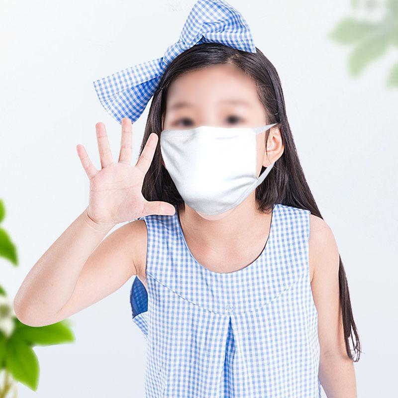 Sublimação Blanks Mask Pure White Poeira Anti-Haze Máscara DIY padrão Face Masks 2 Tamanho Can Personalizado Logo HHD4721
