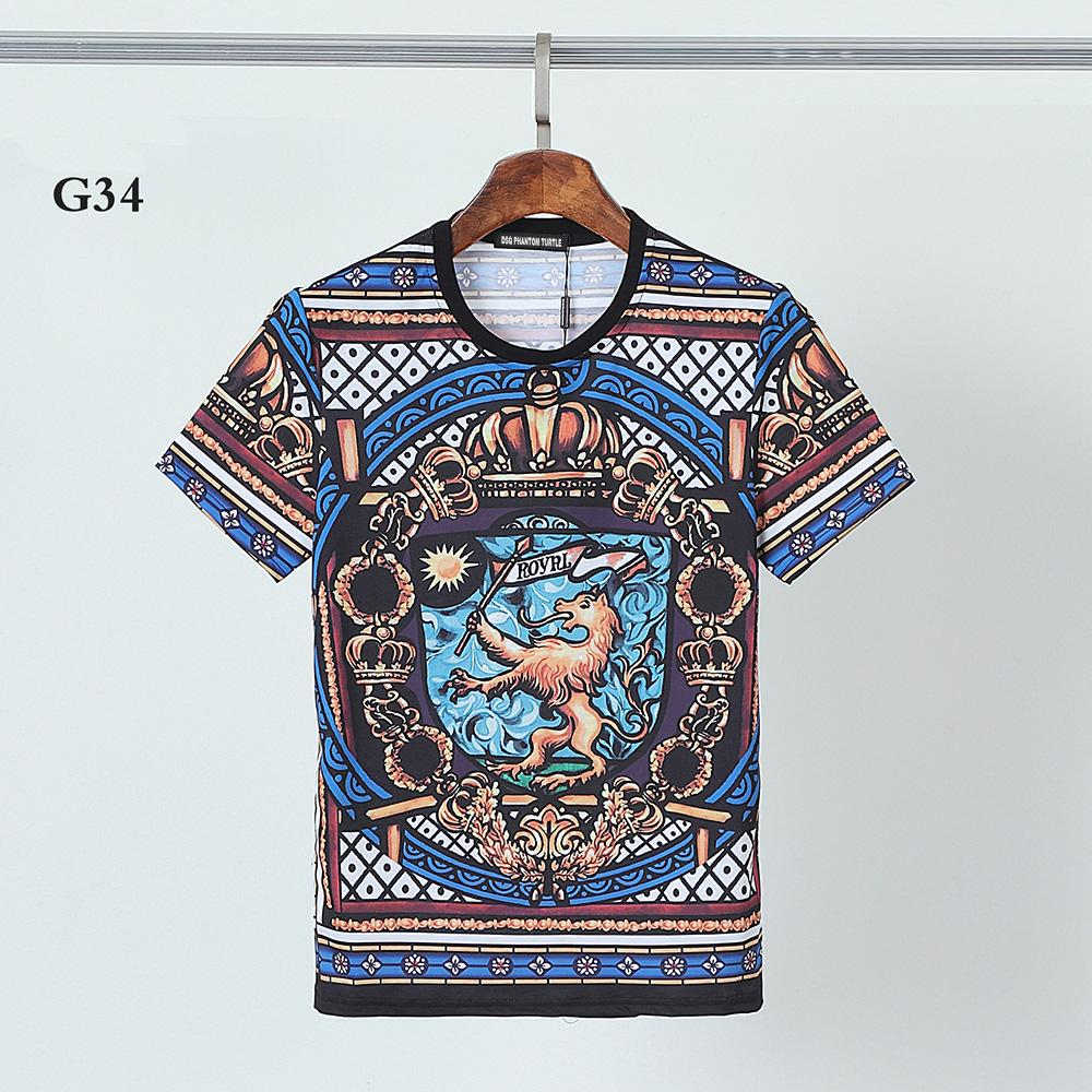 DSQ PHANTOM TURTLE 2021SS New Mens Designer T shirt Paris fashion Tshirts Summer Pattern T-shirt Male Top Quality 100% Cotton Top 1220
