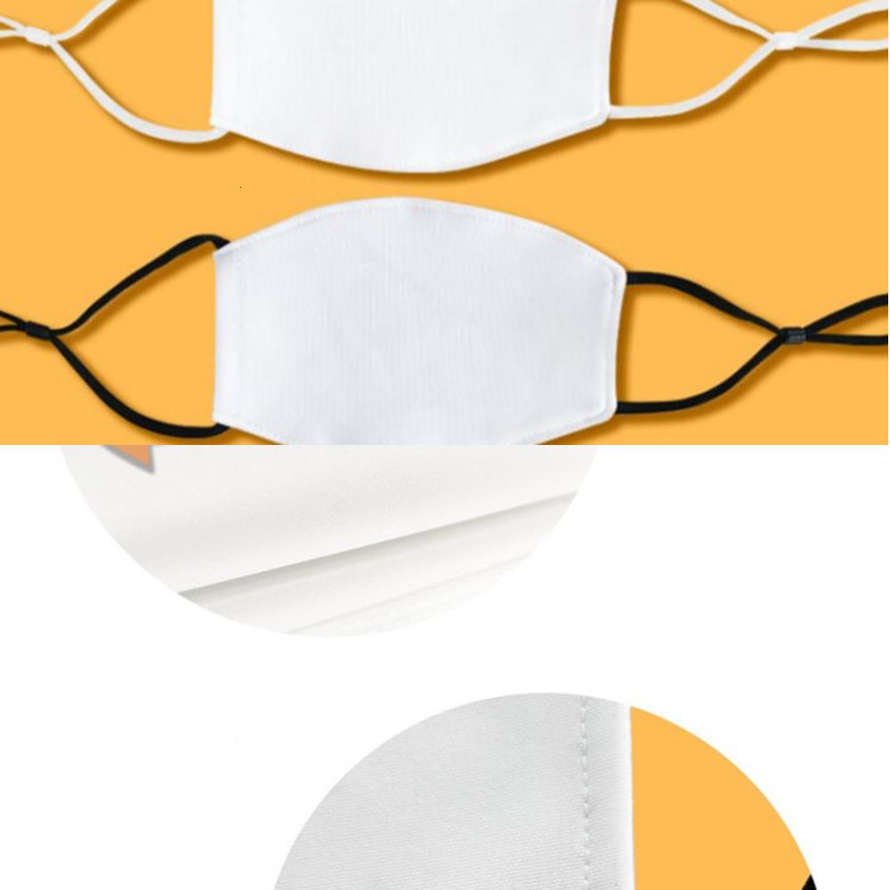 Kids 2020 Sublimação Em Branco Máscara Máscara Máscara Térmica Transferência Térmica DIY Adultos Ajustável Ajustável Elástica Gancho De Proteção Reusável Máscaras F101Z