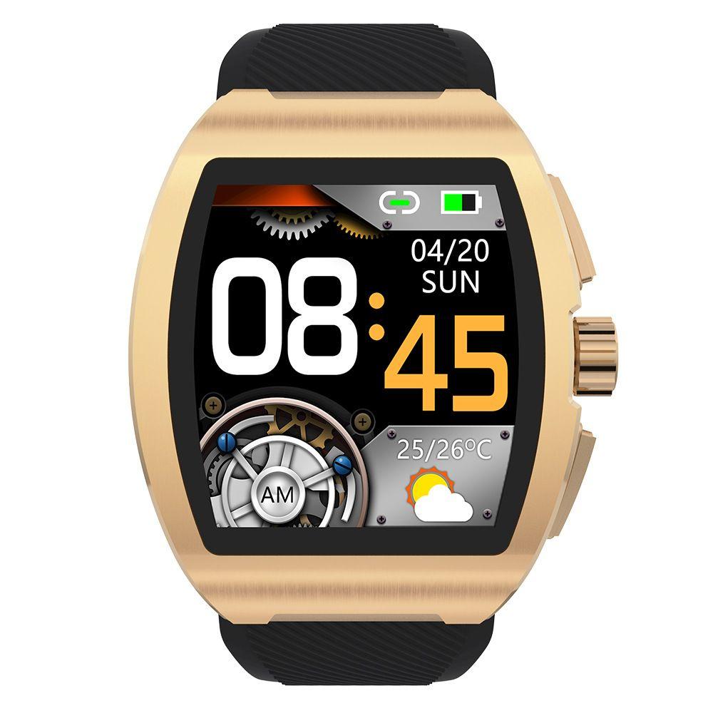 C1 Business Fashion Smart Watch Hombres Monitor de temperatura Smartband Mujeres Bluetooth Tarifa cardíaca Presión arterial SmartWatches