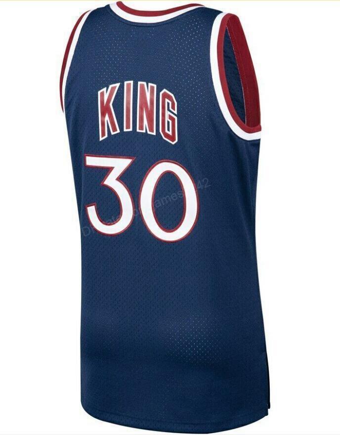 Gewohnheit # 30 Bernard King Mitchell Ness Basketball Jersey Männer Alles genäht jeder Größe 2xs-3XL 4XL 5XL Name oder Nummer