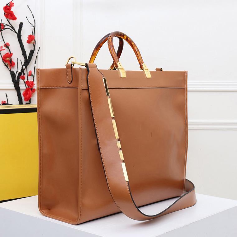 Brown Luxurys Designer Handtaschen Einkaufstüten Leder Material Brief Dekoration Umhängetasche Große Kapazität Messenger Sack Classic Stil Typ