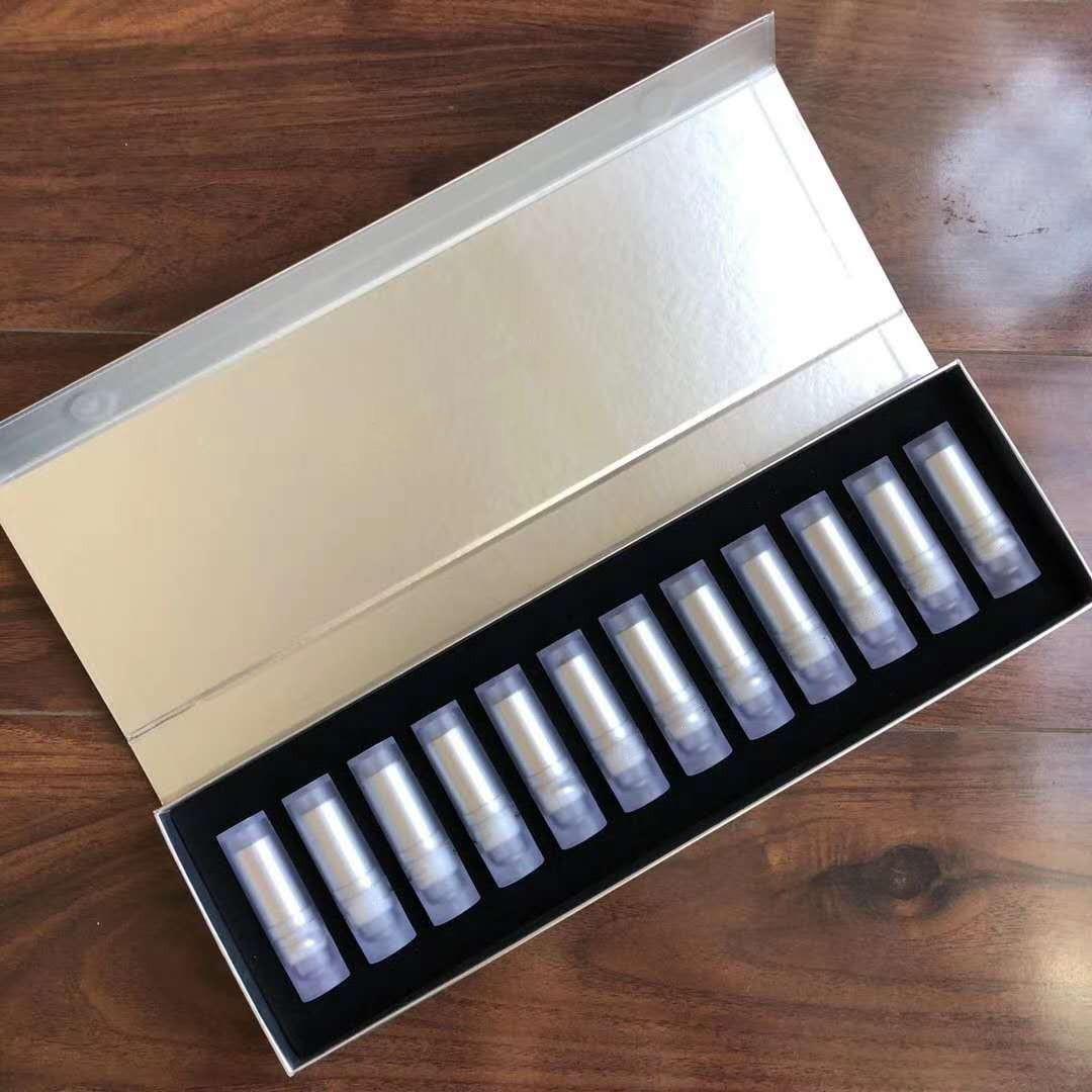 M Marke Lip Makeup Set 12 teile / satz Rouge Lippenstift Matte Lippen Lippenstift 12 Farben Transparent Rohrlipkit