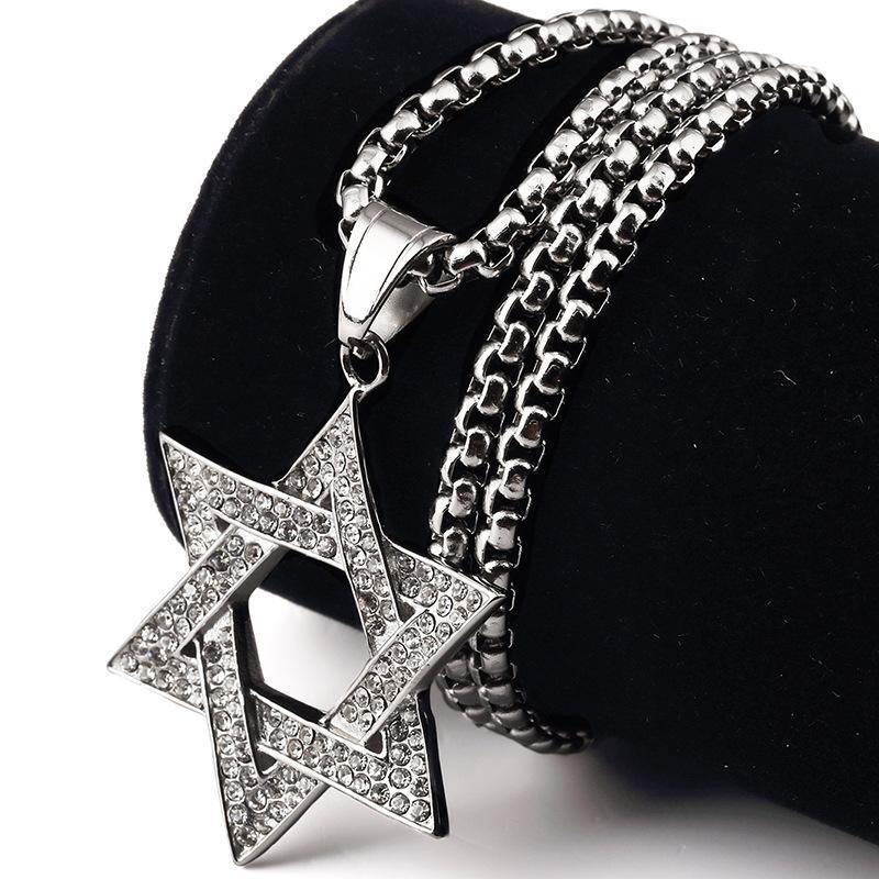 الدين نجمة داود العرقية قلادة العبرية قلادة المجوهرات يهودية