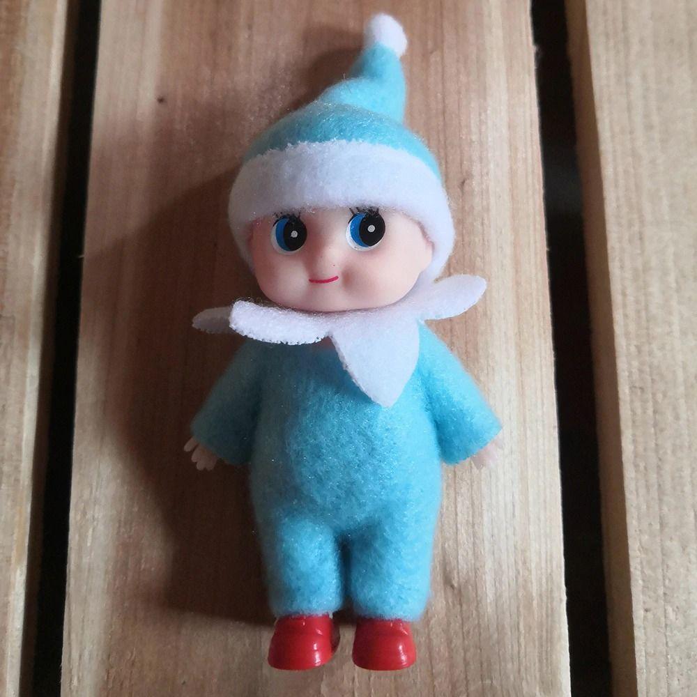 7cm Bambini del bambino del bambino Bambole del bambino con le gambe mobili delle braccia Gambe Accessori per la casa delle bambole di Natale Bambole di Natale Elfi del bambino giocattolo dell elfo per i bambini