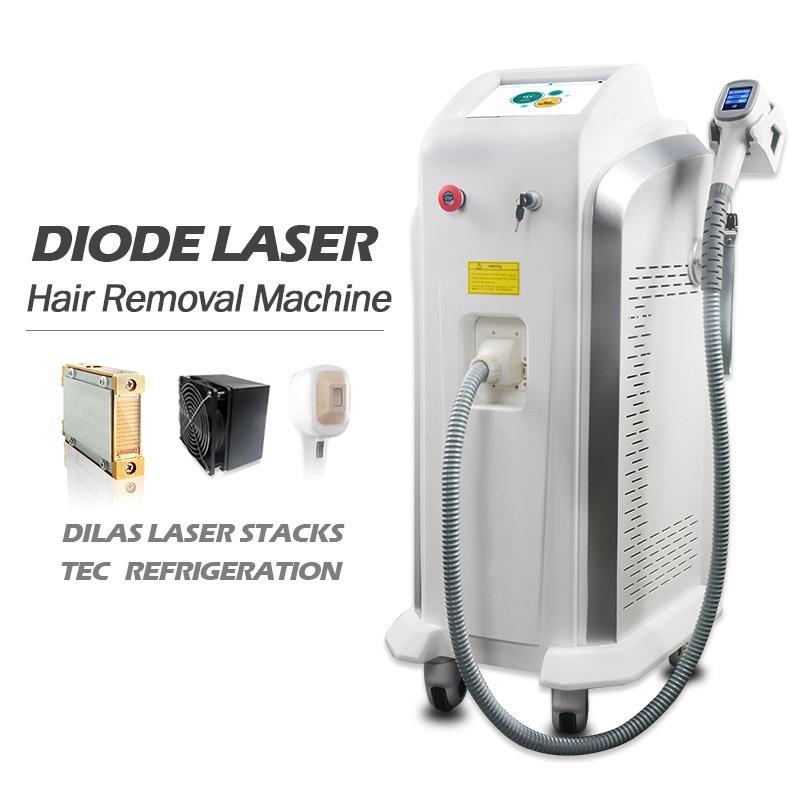 Máquina de depilación láser de alta potencia de 3500W 808NM Máquina de depilación 808 NM Depilación facial Facial Oscuro Adecuado para todos los tipos de piel Tamaño de punto grande