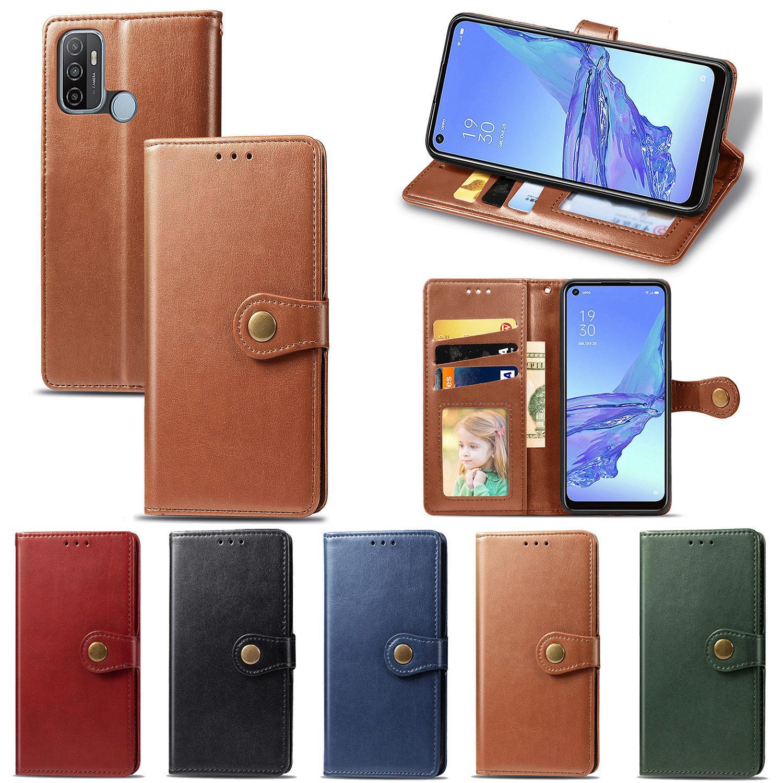 Dla Oppo A53-2020 Wallet Case Phits Futerał z klamrą Flip Magnetic Klamra (model: A53-2020)