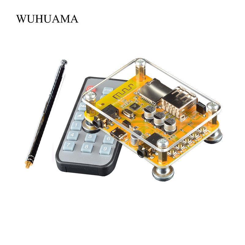 Televizyon Kulaklık Hoparlör Ev Car Stereo Sistemi Çağrı Free için Bluetooth V5.0 Alıcının 3.5mm Aux Kablosuz Ses MP3 Radyo FM Modülü