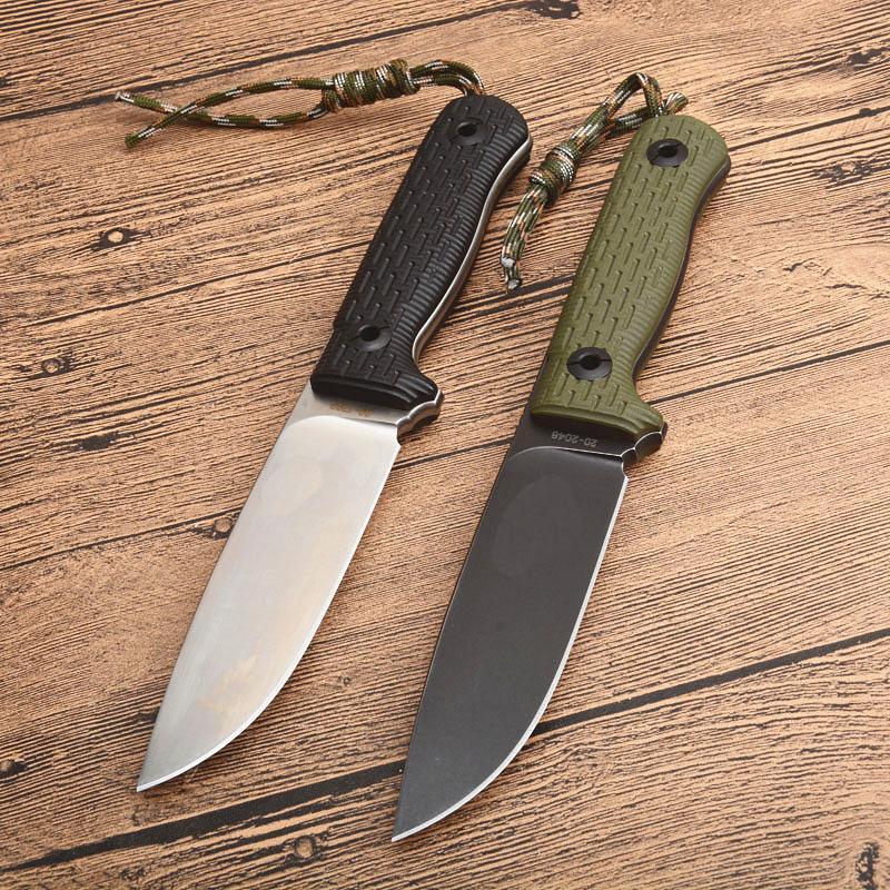 Новый Открытый Выживание Прямой Нож D2 Каменная Мойка D2 Полная Ручка Tang G10 С ABS K Оучка