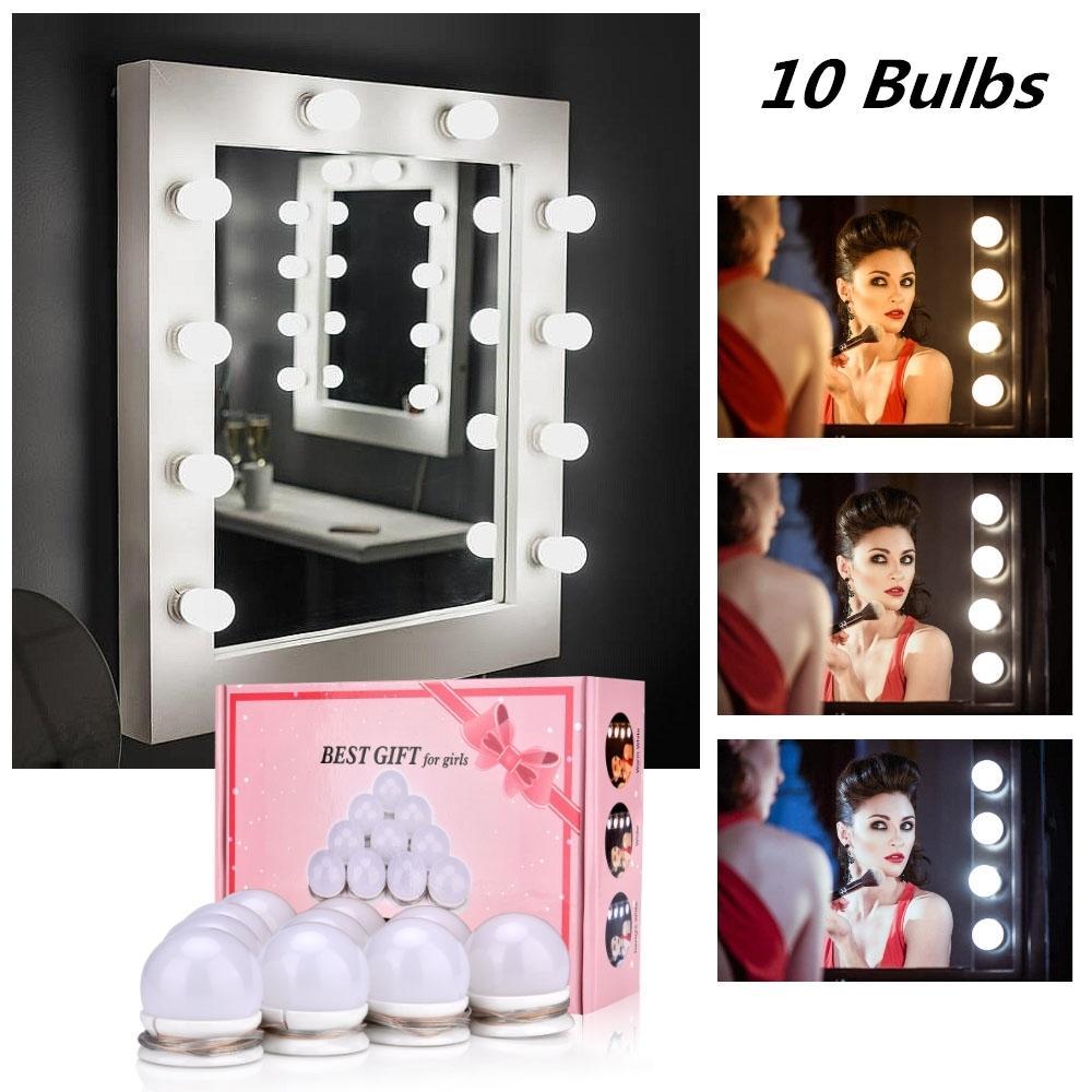 Maquiagem Espelho Vanity LED Light Bulb Hollywood Regulável Espelho de Luz Makeup Vanity Table Set para Vestiário Sem Espelho C1016
