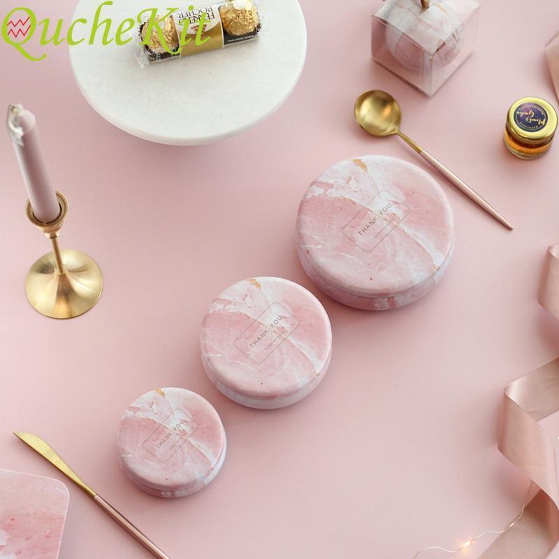 Caja de regalo del caramelo Diseño tambor pequeña caja de metal de almacenamiento de bodas regalo de cumpleaños de Navidad de embalaje joyero Organizador 8.5 * 3.5cm