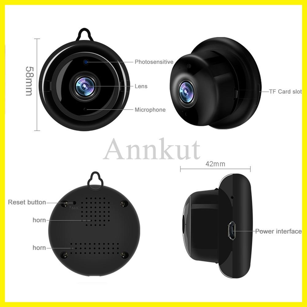 مصغرة كاميرا IP، لاسلكية مصغرة كاميرا ip 1080 وعاء الدقة IR CCTV الأشعة تحت الحمراء للرؤية الليلية مايكرو كاميرا أمن الوطن مراقبة واي فاي مراقبة الطفل