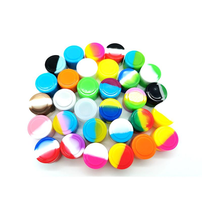 Wholesale 500 Pcs/lot Silicone Container Dab Tool 2 Ml Food Grade Wax Jars Non-stick Storage Containers free fast sea shipping