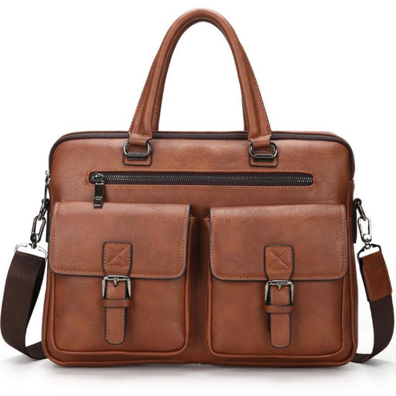 computer 14 inch handbag messenger black briefcase 13 brown leather bag for men mens work bags