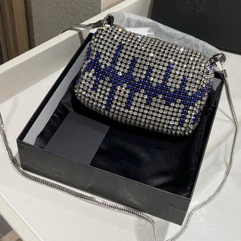 Diamond Bling Handbag Purse Glitter Crossbody Bag Fashion letter Chain Shoulder Bags Women Clutch Bag Zip Wallets Classic Party Evening Bag