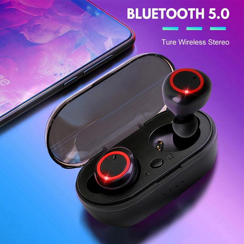 A2 TWS 5.0 fones de ouvido sem fio Bluetooth fone de ouvido à prova d 'água estéreo fone de ouvido toque de controle de toque Earbuds Powerbank Case de carregamento
