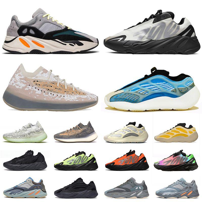 sapatos adidas yeezy boost wave runner 700 v2 yeezys 380 alien yezzy yezzys boots 700 v3 Kanye West homens Running Shoes V2 Vanta LMNTE pimenta Azareth sapatilhas Tamanho Eur 36-46
