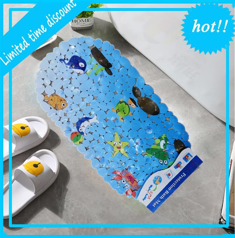 Eco-Friendly Soft Coussin Bain De Soleil Colorful Funny Foot Massage PVC 350g Bath Mat Bathroom