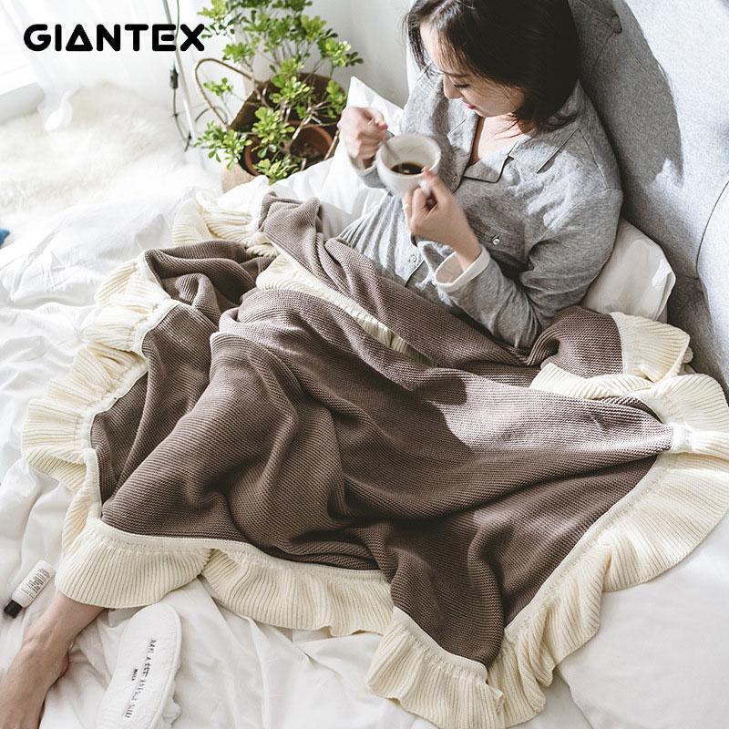 GIANTEX doux hiver chaud canapé couverture de couverture de coton de coton en coton en coton des accessoires de photographie 130x160cm u19771