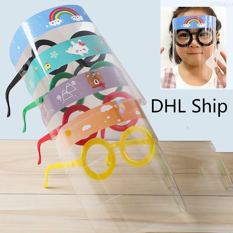Фильм DHL Ship Защитная Детская Безопасная крышка FaceShield Прозрачная Полноценная Анти-Туманная Премиум Premium Pet Face Shield Партия Маска Голова Обложка как