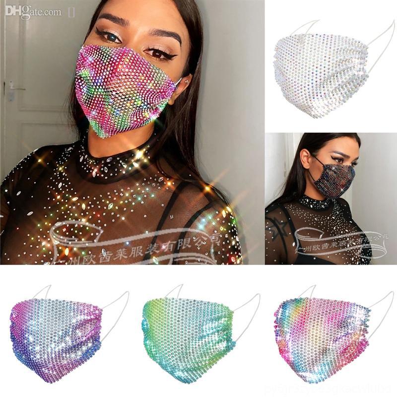 7En joyería moda blingbar flash diamante máscara caliente fiesta de las mujeres accesorios cara