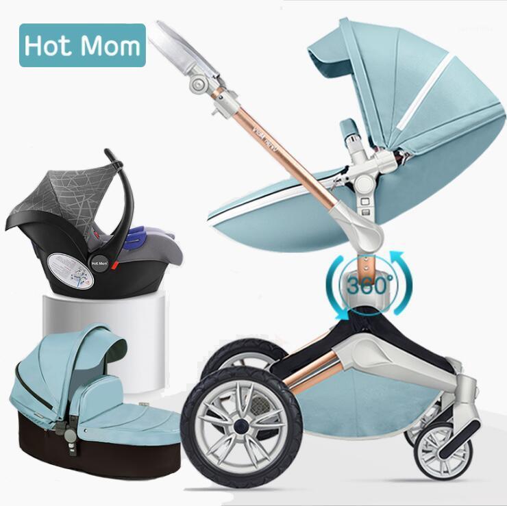Los cochecitos de mamá caliente pueden sentarse altos paisajes plegables reclinados livianos livianos baby baby shipping shipping1