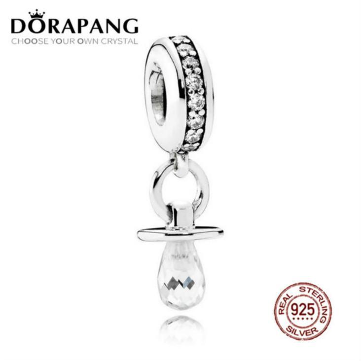 2021 новый 100% 925 стерлингового серебра со стерлингового серебра Bashcle Charm Chare CZ подвесной бусин для мать подарок браслет DIY браслет