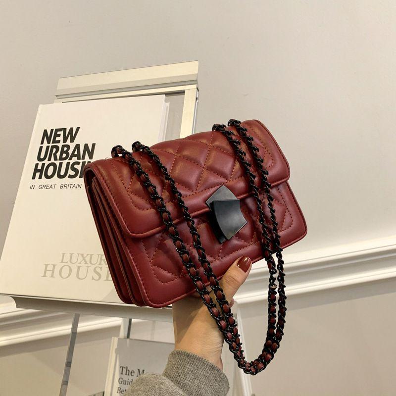 HBP messenger bag handbag handbag designer New design woman bag high quality texture fashion fashion shoulder bag chain Check
