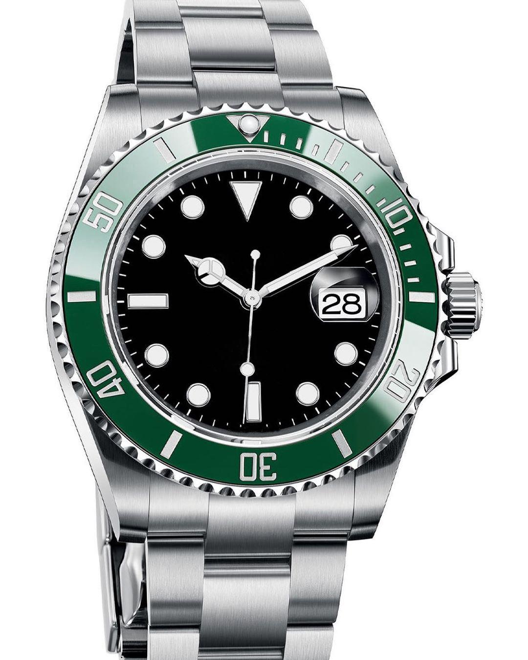 Cerámica Bisel Moda Mujeres Lady Master Men Hombres Movimiento Mecánico Automático Tag GMT Designer Reloj Luminous Diamond Wristwatches Relojes