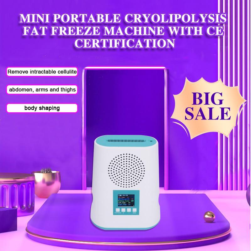 뜨거운 판매 한국 쉬운 CE 인증과 함께 미니 휴대용 냉각 패드 한 Cryolipolysis 지방 냉동 기계를 사용하는