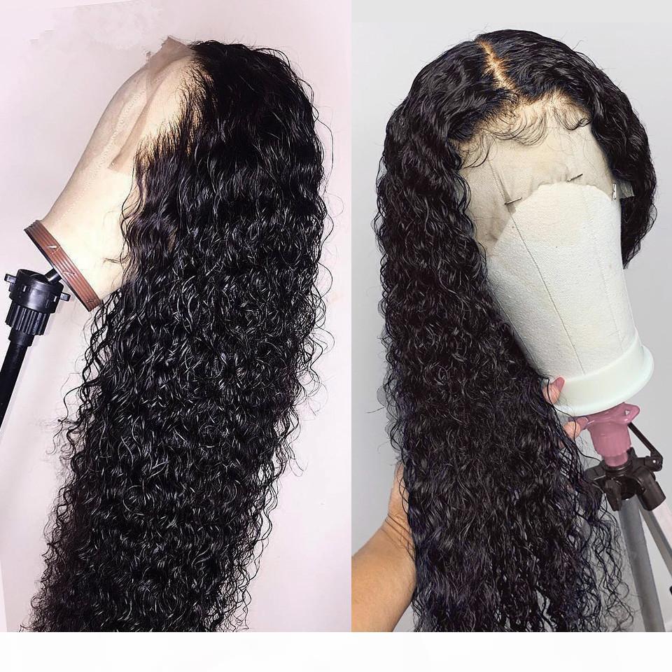Парик фронта бразильский Джерри Curl парик шнурка коротких вьющихся фронта шнурка человеческих волос Парики Pre щипковых парики для чернокожих женщин