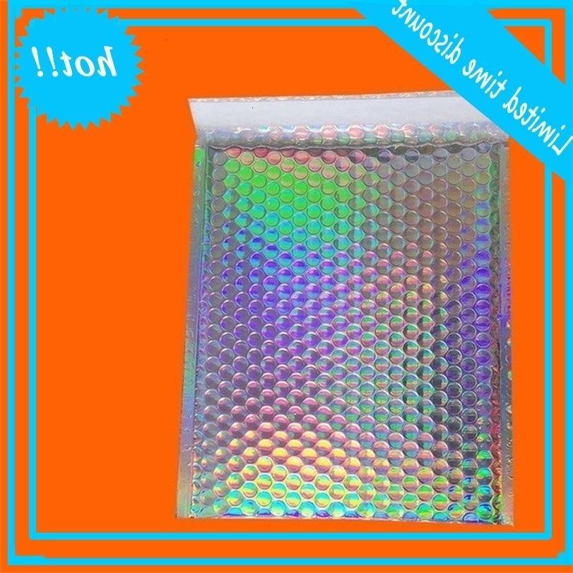 Symphony Express Emballage Mousse personnalisée Sac de perle de mousse sur mesure Cadeau aluminisé Film laser Bubble Envelope coloré