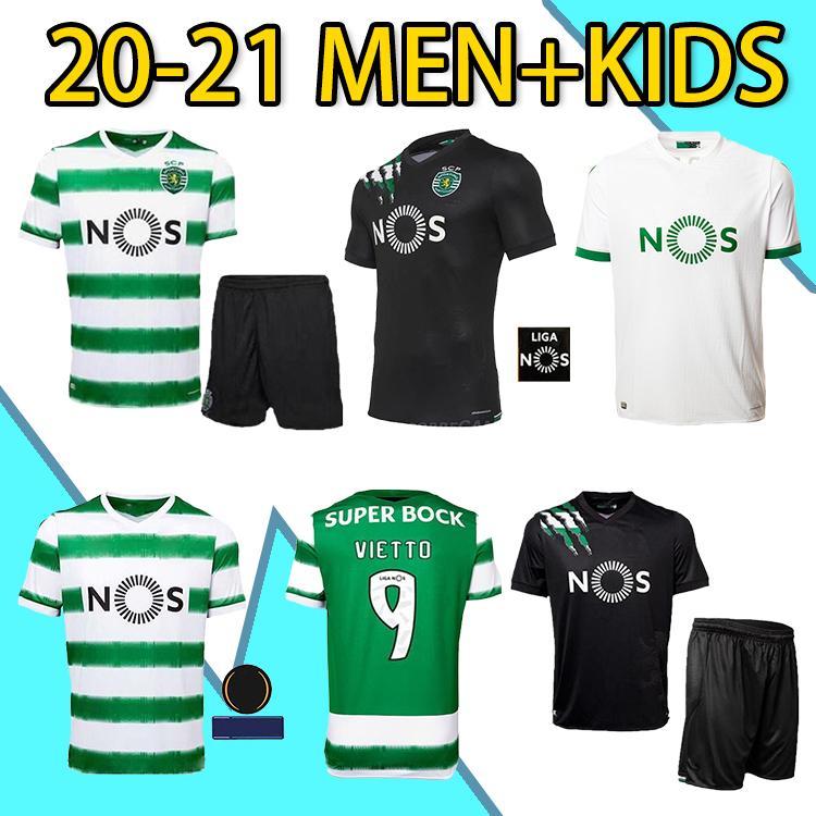 20 21 Sporting Clube de Sporting CP Lisboa Futebol Jerseys C.ronaldo Phellype 2020 2021 B.Fernandes Camisa de futebol DOST homens Kit uniformes