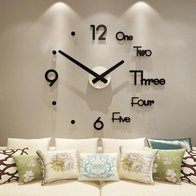 Крупногабаритные творческий настенные часы поделки гостиной мода домашнего искусства часы современный дизайн простой личности висит gCxy #