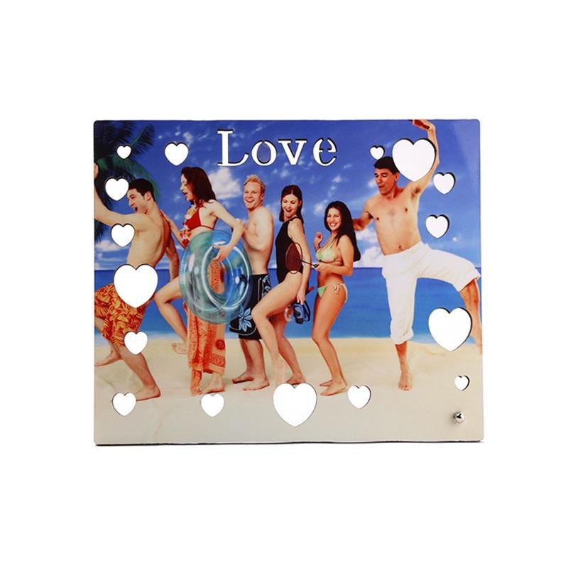 Aşk Süblimasyon Boş Boyama Sanat Woodblock Özgünlük Oymak Resim MDF TTO Resim Sergisi Sevgililer Günü Hediyelik Süsler 12 83xm O2