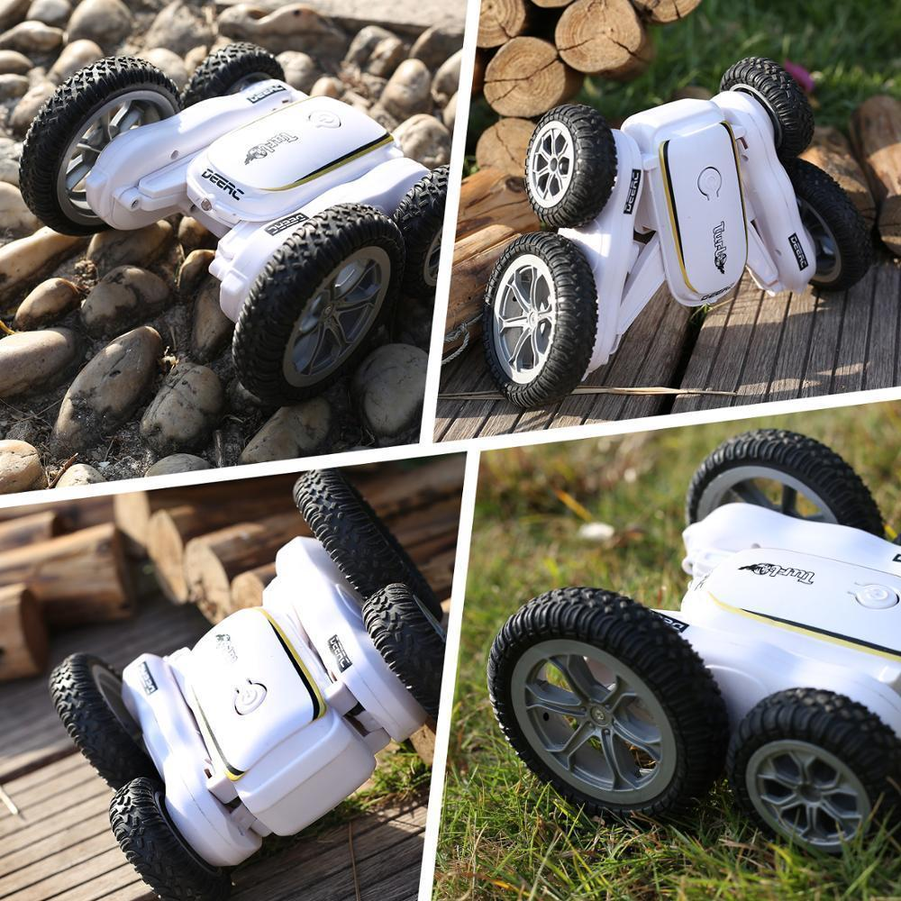 DEARC RC CAR 4WD OFF Road High Speed ​​RC Hrawler Trunt Car Toys для детей Drift Buggy 360 Вращающиеся перевороты 50 минут 201218