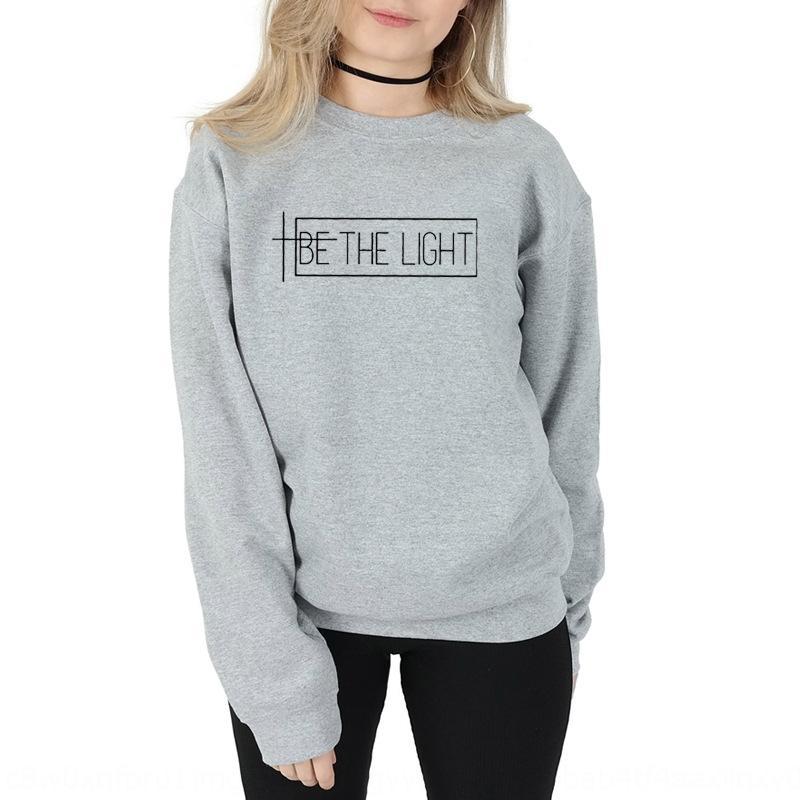 Женская свободный топ с длинным рукавом свитера свитер будет свет sweetshirt письмо вскользь верхняя XE2RN