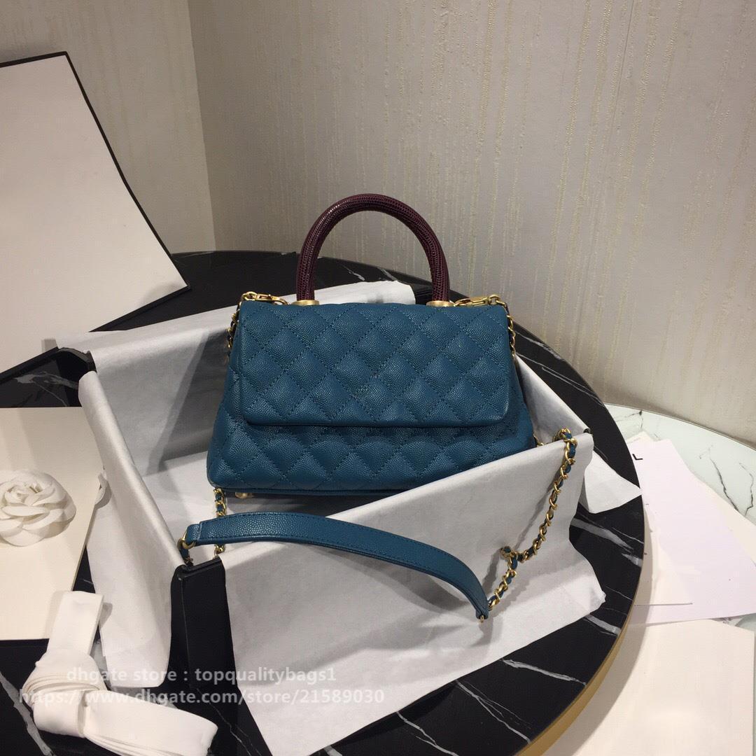 Sac Chaude Vendu Top 2021 Véritable Cuir Gree Quality Femmes Designers Mode Sac à main Classic Femmes Luxurys Épaule 23cm Designers Shipin Erpl