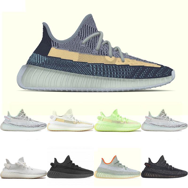 350 Kanye West Fade Karbon İsrafil Statik 3M Yansıtıcı Kadın Erkek Koşu Ayakkabı 350Spor ayakkabı350S V2 Trainer UB 2020 En Yeni En iyi kalite