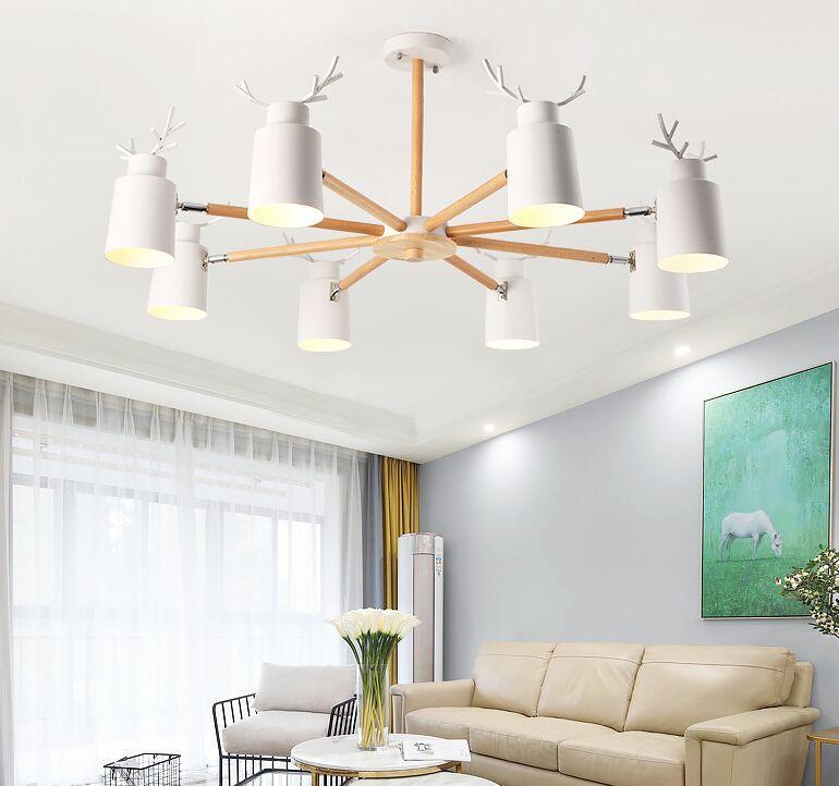 Nordische Kronleuchter für Wohnzimmer Schlafzimmer Küche Geweih LED Kronleuchter Beleuchtung Vogel Deko Lampe Moderne Lüster De Plafond